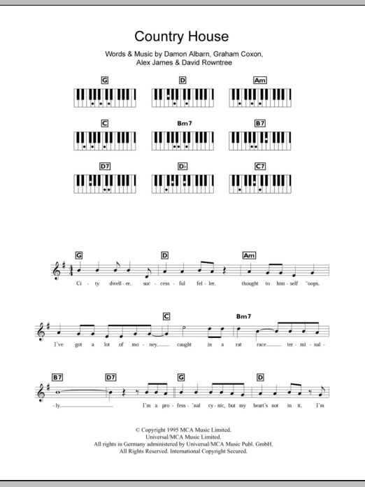 Country House Sheet Music