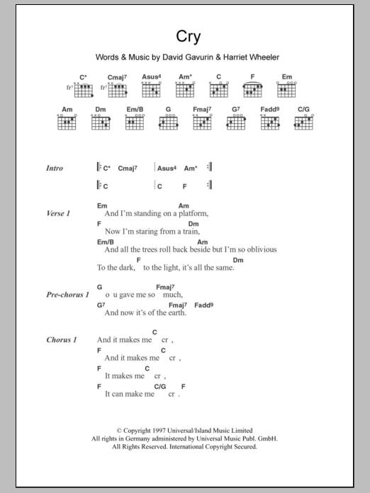 Cry Sheet Music