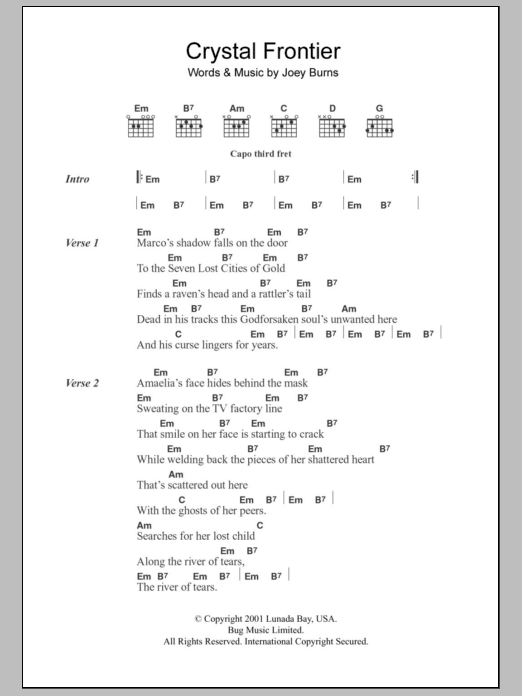 Crystal Frontier Sheet Music