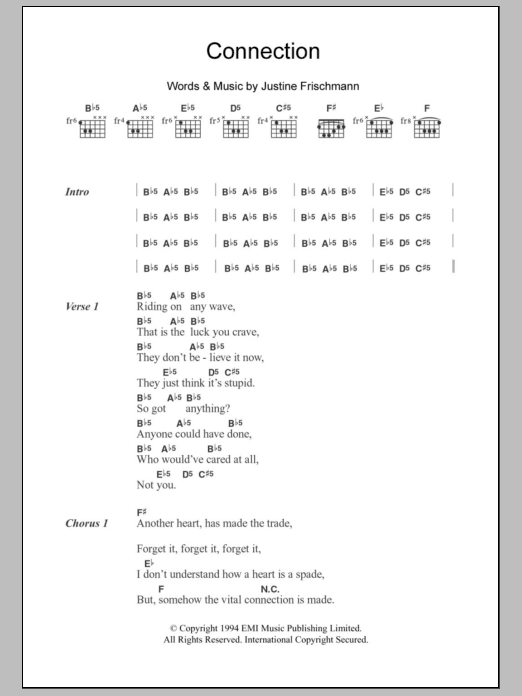 Connection Sheet Music