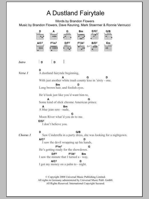 A Dustland Fairytale Sheet Music