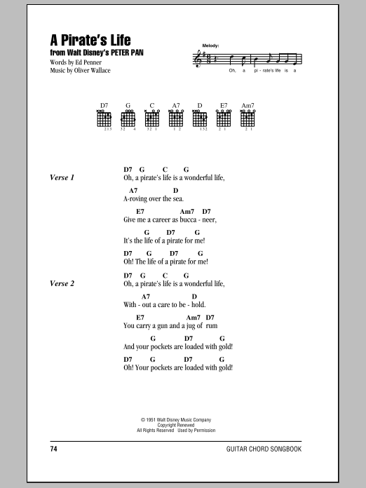 A Pirate's Life Sheet Music