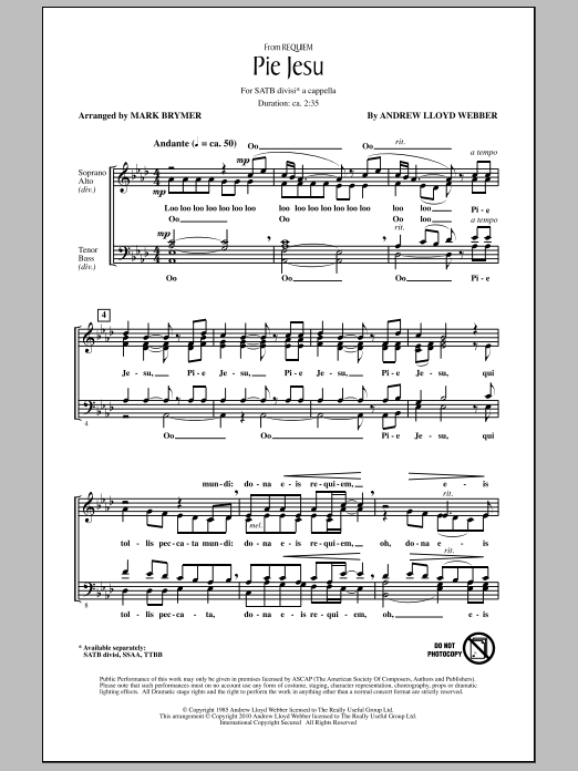 Sheet Music Digital Files To Print Licensed Andrew Lloyd