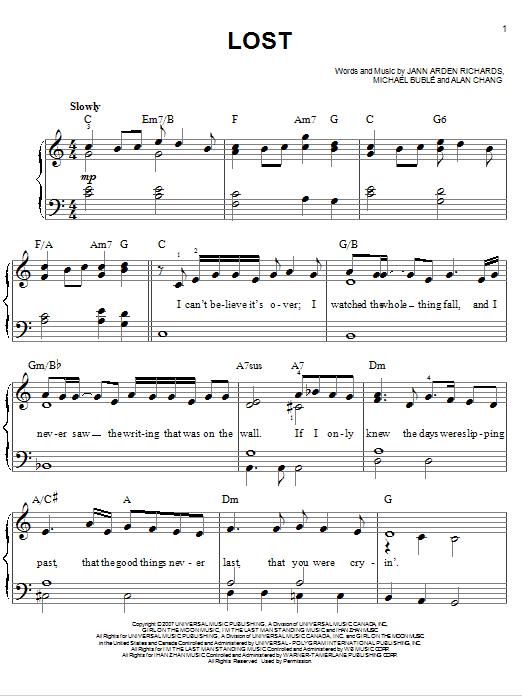 Lost (Easy Piano)