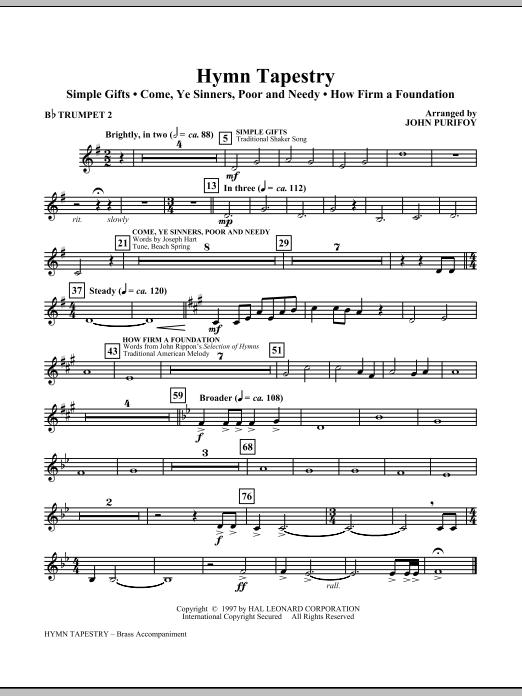 Hymn Tapestry - Bb Trumpet 2 (Choir Instrumental Pak)