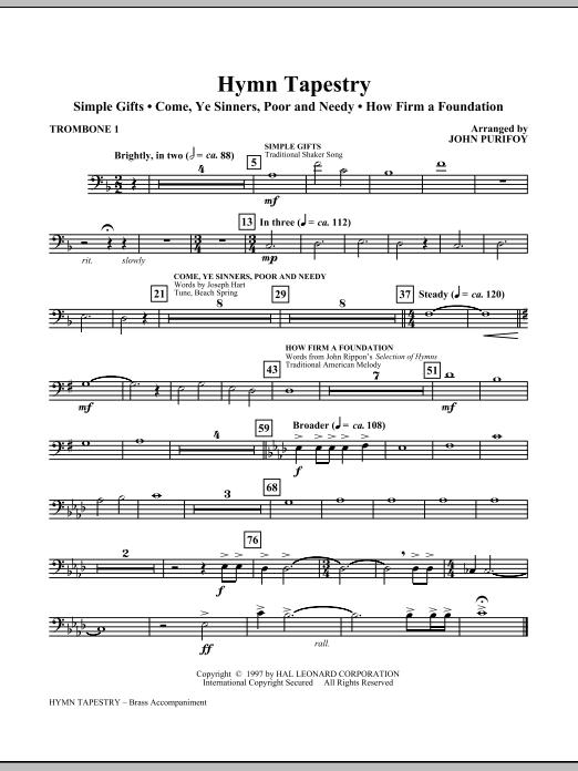 Hymn Tapestry - Trombone 1 (Choir Instrumental Pak)