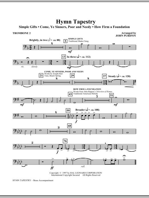 Hymn Tapestry - Trombone 2 (Choir Instrumental Pak)