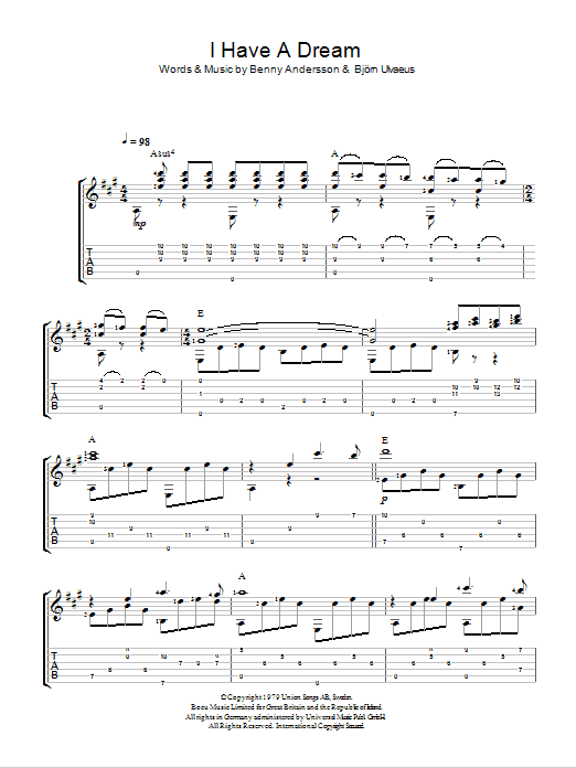 I Have A Dream by ABBA - Easy Guitar Tab - Guitar Instructor