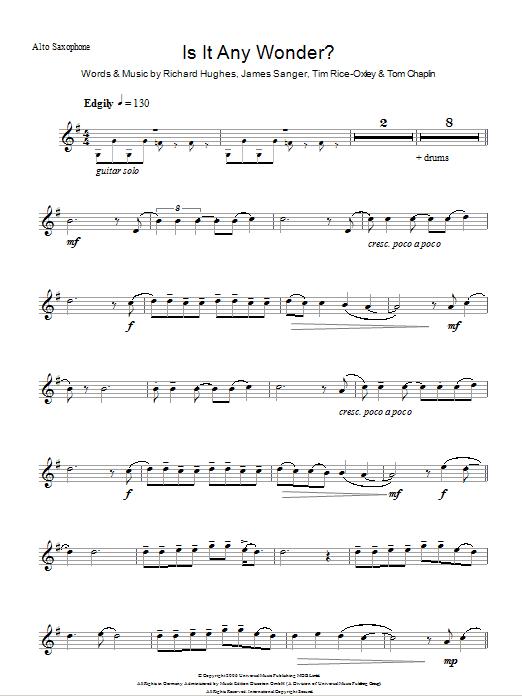 Is It Any Wonder? Sheet Music