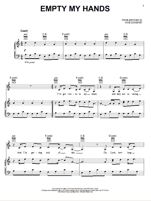 Empty My Hands Sheet Music