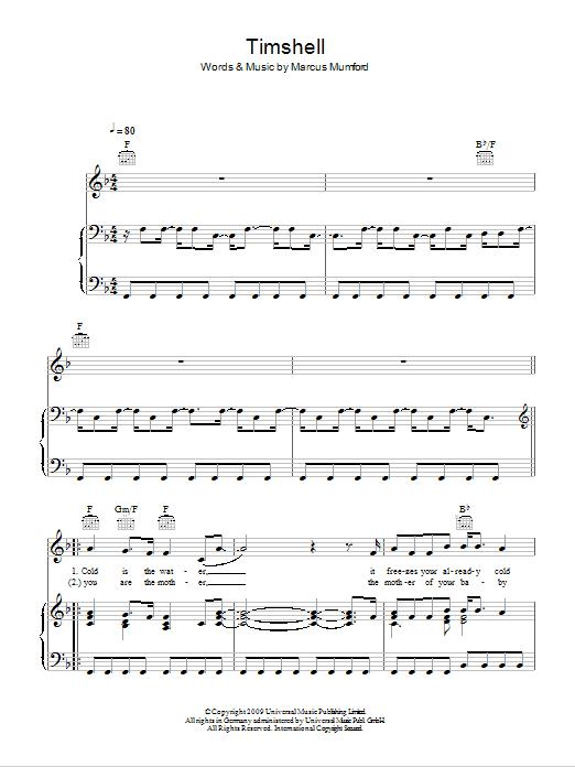 Timshel Sheet Music