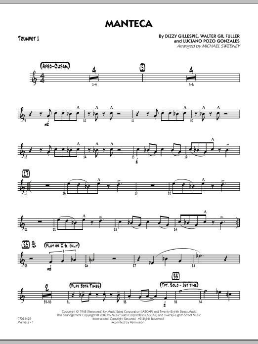 Manteca - Trumpet 1 Sheet Music