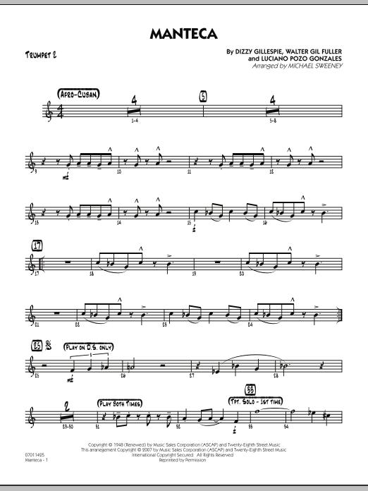 Manteca - Trumpet 2 Sheet Music