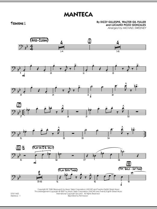 Manteca - Trombone 1 Sheet Music