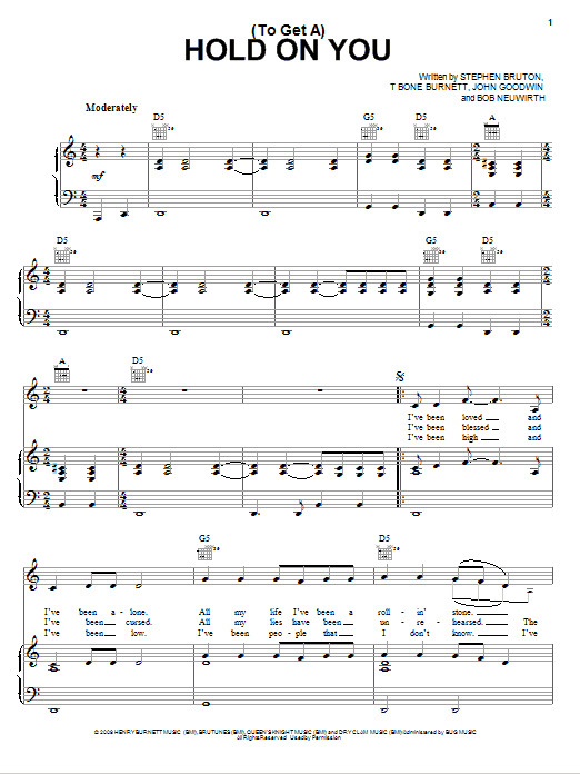 (To Get A) Hold On You Sheet Music