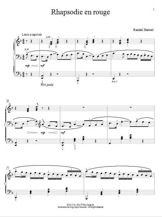 Rhapsodie en rouge - Mid-Intermediate Level by Randall Hartsell