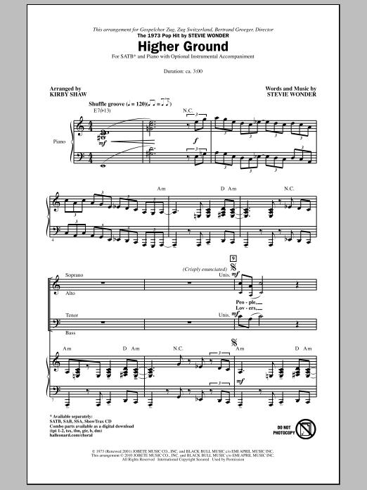 Higher Ground (SATB Choir)