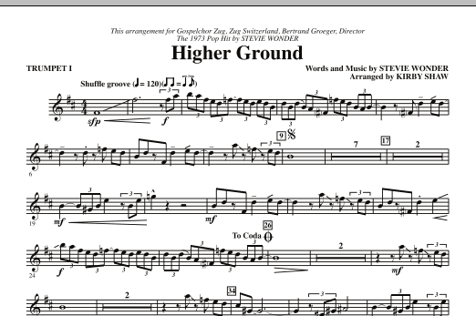 Higher Ground - Bb Trumpet 1 (Choir Instrumental Pak)