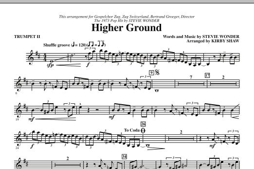 Higher Ground - Bb Trumpet 2 (Choir Instrumental Pak)