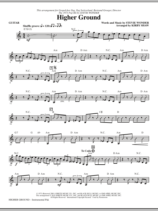 Higher Ground - Guitar (Choir Instrumental Pak)