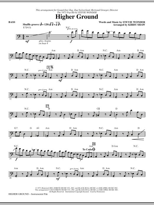 Higher Ground - Bass (Choir Instrumental Pak)