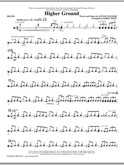 Higher Ground - Drums (Choir Instrumental Pak)