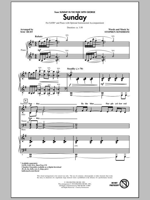Sunday (SATB Choir)