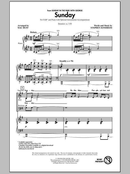 Sunday (SAB Choir)