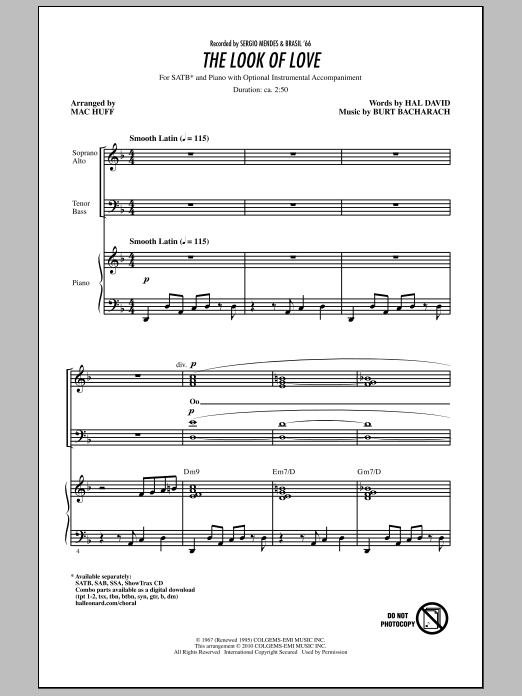 The Look Of Love Sheet Music