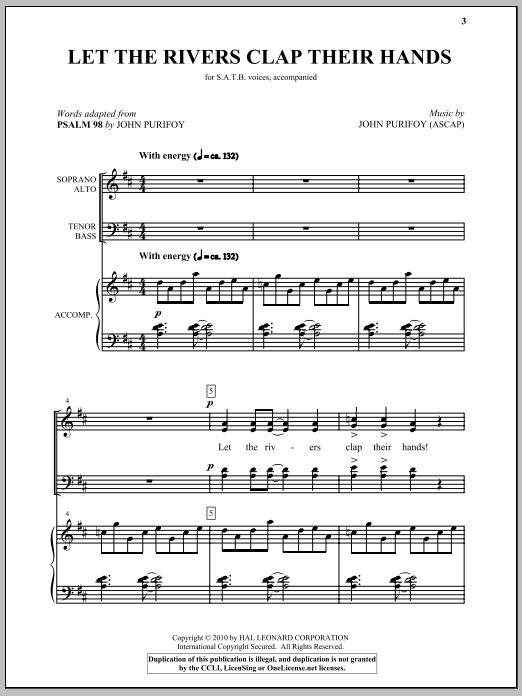 Let The Rivers Clap Their Hands Sheet Music