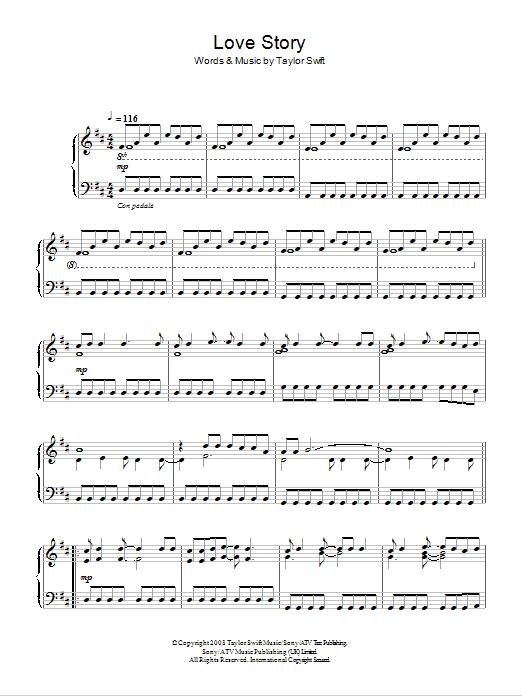 Love Story | Taylor Swift | Piano