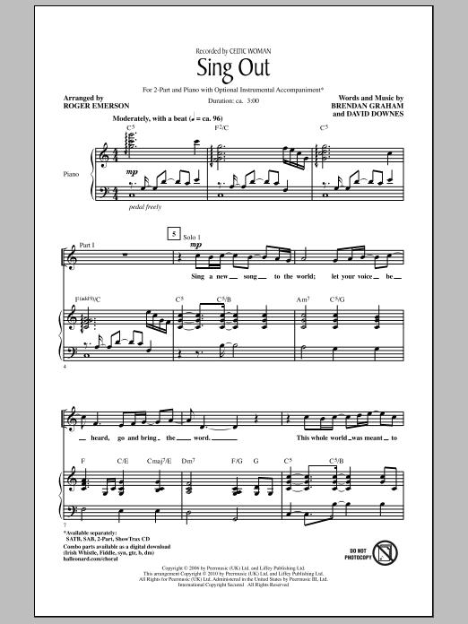 Sing Out Sheet Music