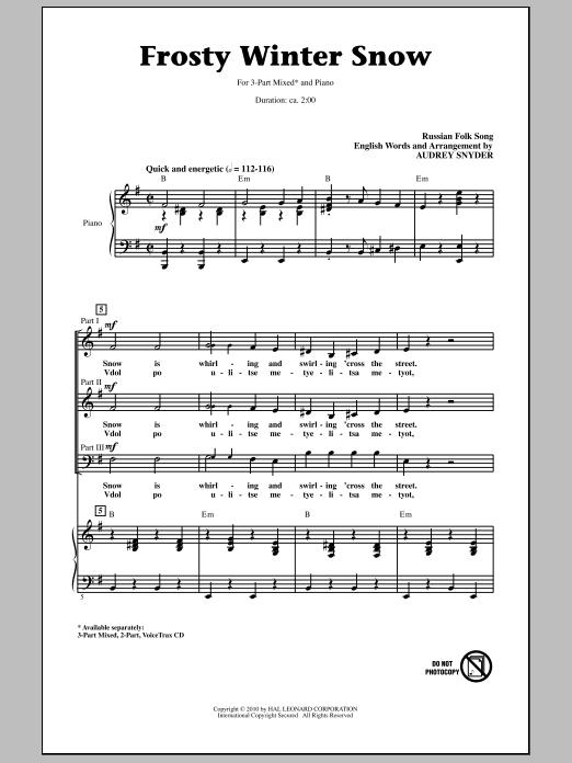 Frosty Winter Snow (3-Part Mixed Choir)