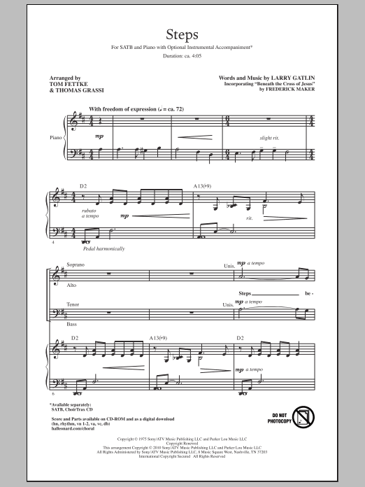 Steps Sheet Music