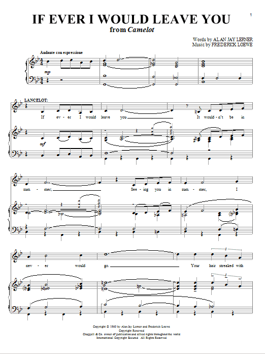 If Ever I Would Leave You Sheet Music