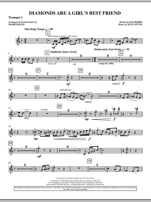 Diamonds Are A Girl's Best Friend - Trumpet 1 (Choir Instrumental Pak)