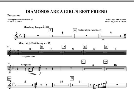 Diamonds Are A Girl's Best Friend - Percussion (Choir Instrumental Pak)