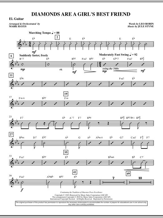 Diamonds Are A Girl's Best Friend - Guitar (Choir Instrumental Pak)