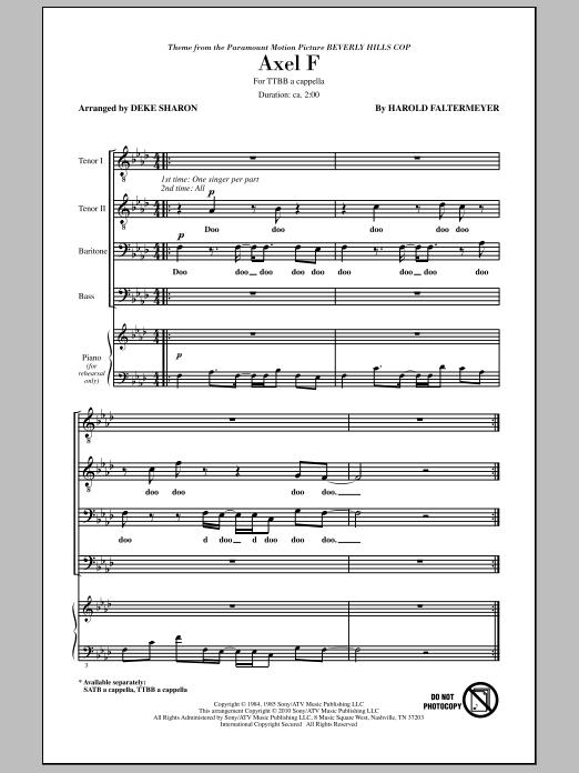 Axel F (TTBB Choir)