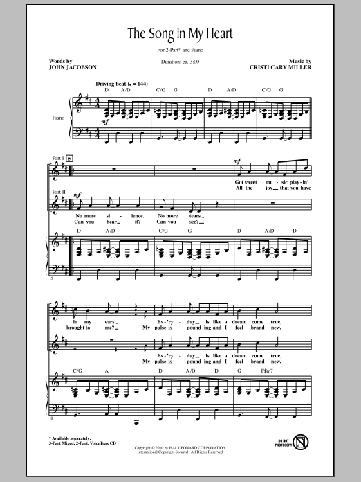 The Song In My Heart Sheet Music