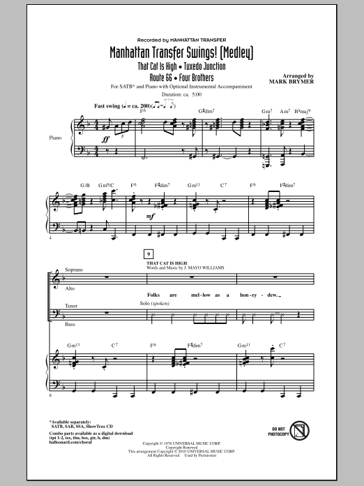 Manhattan Transfer Swings! (Medley) Sheet Music