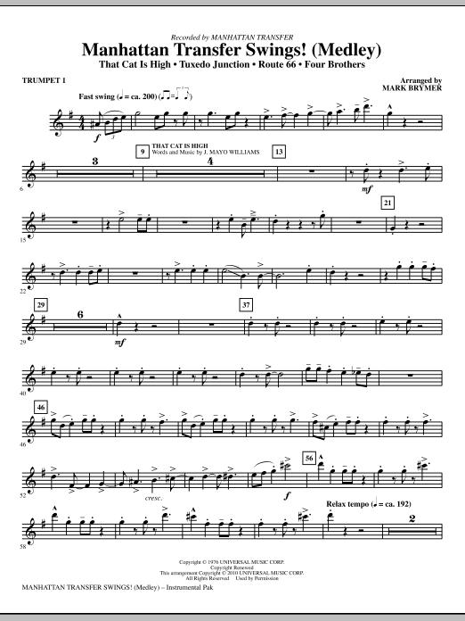 Manhattan Transfer Swings! (Medley) - Bb Trumpet 1 (Choir Instrumental Pak)
