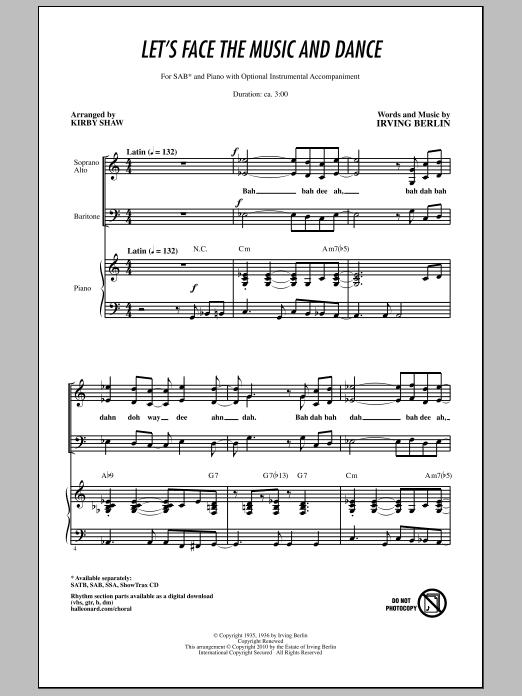 Let's Face The Music And Dance (SAB Choir)