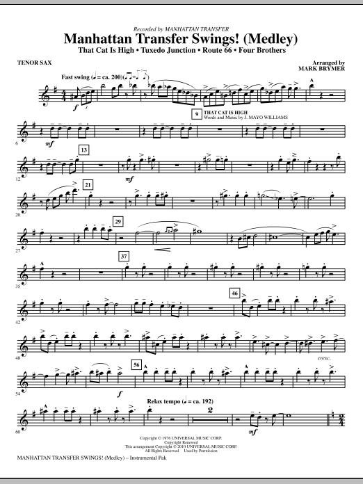 Manhattan Transfer Swings! (Medley) - Bb Tenor Saxophone (Choir Instrumental Pak)