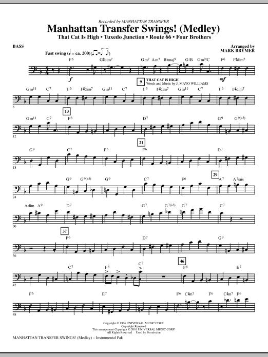 Manhattan Transfer Swings! (Medley) - Bass (Choir Instrumental Pak)