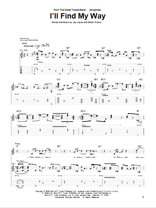 I'll Find My Way (Guitar Tab)