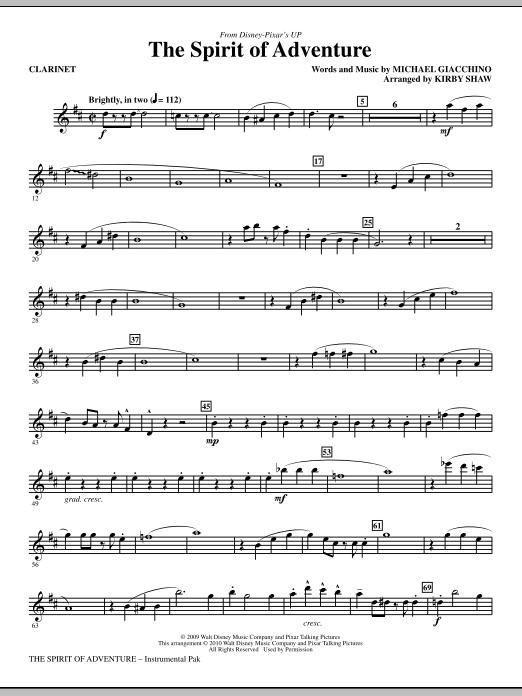 The Spirit Of Adventure - Bb Clarinet (Choir Instrumental Pak)