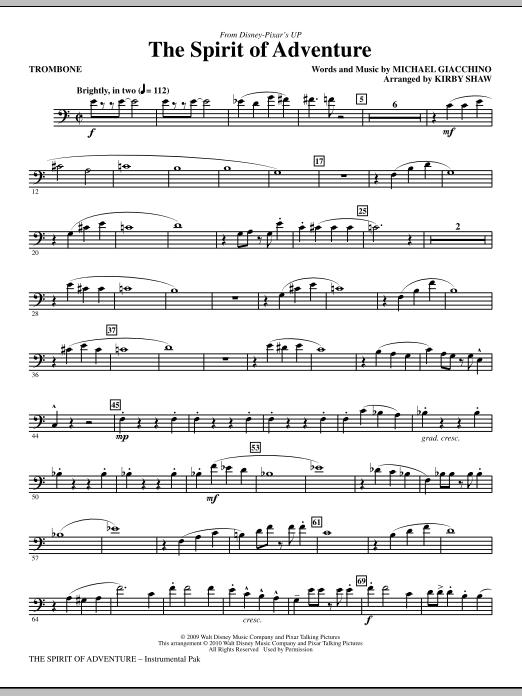 The Spirit Of Adventure - Trombone (Choir Instrumental Pak)
