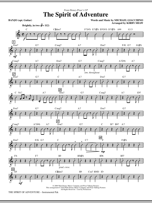 The Spirit Of Adventure - Banjo/Guitar (Choir Instrumental Pak)