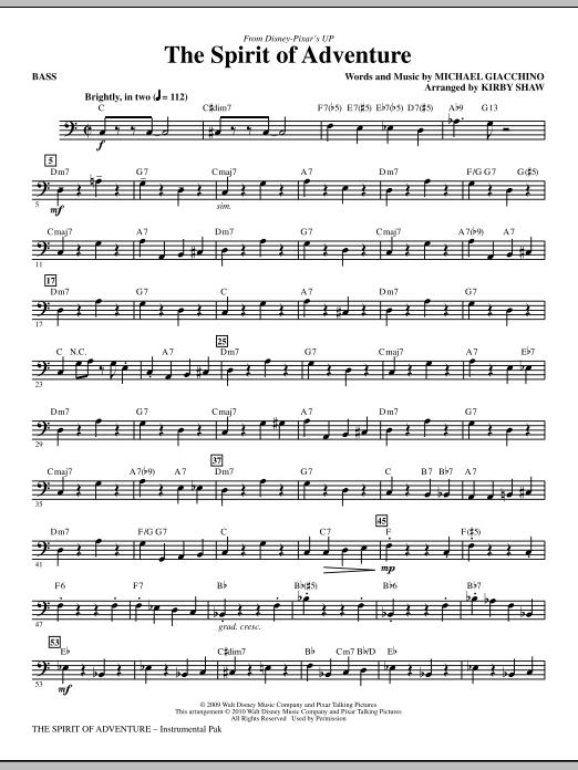 The Spirit Of Adventure - Bass (Choir Instrumental Pak)